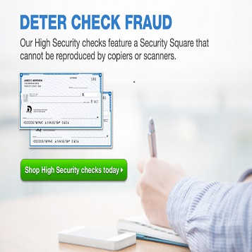 Deter check fraud.  Our high security checks feature a security square that cannot be reproduced by copiers or scanners.