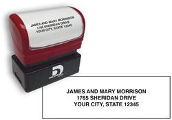 Pre Inked Compact Size Name and Address Stamp