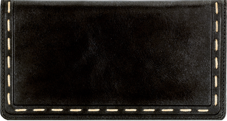 Canyon Black Leather checkbook Cover