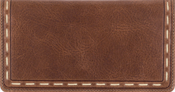 Canyon Brown Leather checkbook Cover