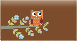 Owls checkbook Cover