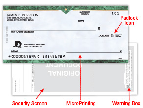 Order personal checks online custom printed by deluxe to minimize the risk of fraud deluxe incorporates proven security features in our checks these features help deter alteration and enable authentication freerunsca Choice Image